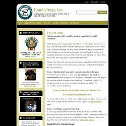 Service Dogs - Handi-Dogs, Inc.