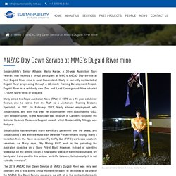 ANZAC Day Dawn Service at MMG's Dugald River mine - Sustainability