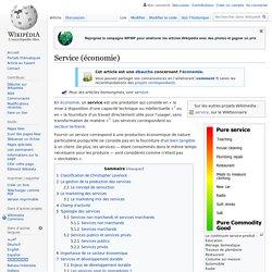 Service (économie)