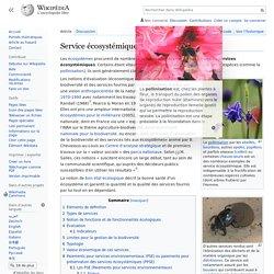Service écosystémique : définition wikipédia