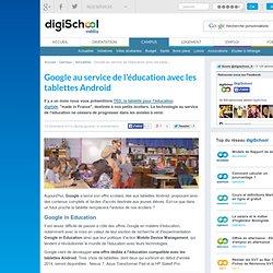 Google au service de l'éducation avec les tablettes Android