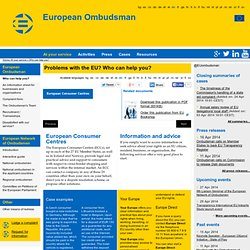 At your service - Who can help you?»European Ombudsman