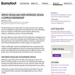 Service design and User Experience design: a complex partnership