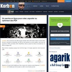Un service en ligne pour créer, exporter ou optimiser des PDF