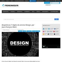 [Expert] Les 7 règles du service Design, par Jean-François Marti