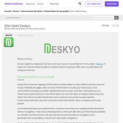 [Site Web] Deskyo - Service Web de gestion de liens favoris visuel par sgloriot