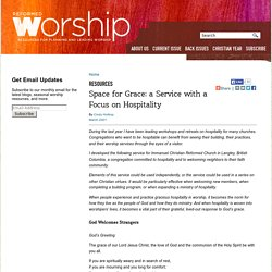 Space for Grace: a Service with a Focus on Hospitality