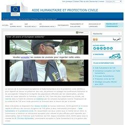 À propos du service de l'UE à l'aide humanitaire et à la protection civile (ECHO)