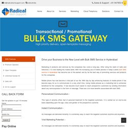Bulk SMS Service Provider in Hyderabad - Radical Tech Support