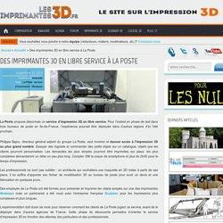 Un service d'impression 3D à La Poste