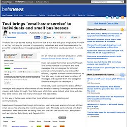 Tout brings 'email-as-a-service' to individuals and small businesses