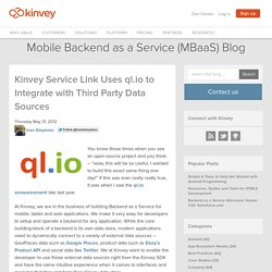 Kinvey Service Link Uses ql.io to Integrate with Third Party Data Sources