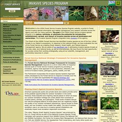 USDA Forest Service Invasive Species Program