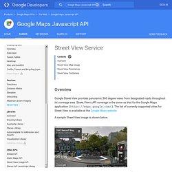 Street View Service - Google Maps JavaScript API v3