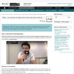 Glup : un service en ligne pour créer des jeux sérieux