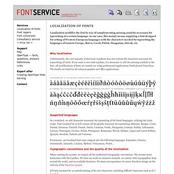 Localization of fonts