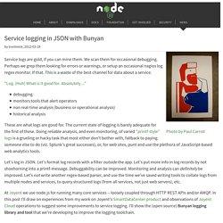 Service logging in JSON with Bunyan