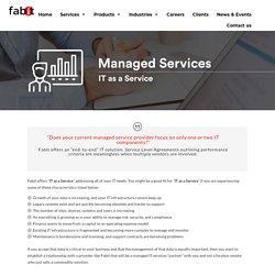 IT as a Service - Data Management Services