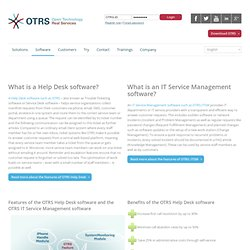Software - OTRS Help Desk - ITIL V3 compliant OTRS ITSM