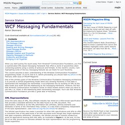 Service Station: WCF Messaging Fundamentals