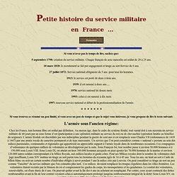 Service militaire en France