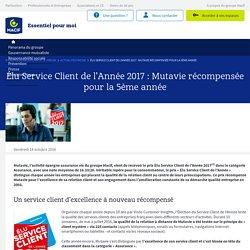 Élu Service Client de l'Année 2017: Mutavie récompensée pour la 5ème année - Espace Presse Macif