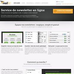 Service de newsletter en ligne - Mailjet