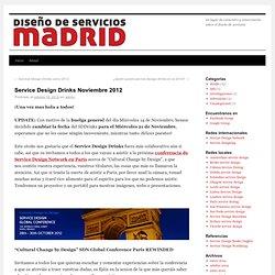Service Design Drinks Noviembre 2012