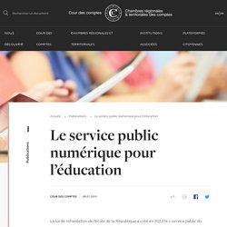 Le service public numérique pour l'éducation