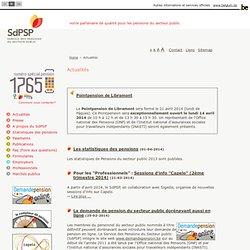 SdPSP - Service des Pensions du Secteur public - Actualités