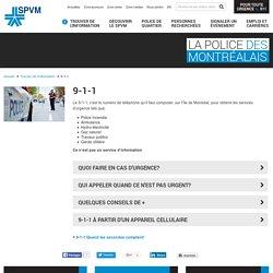 9-1-1 - Service de police de la Ville de Montréal (SPVM)