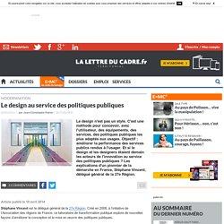 Le design au service des politiques publiques. In : La lettre du cadre territorial. POIROT Jean-Christophe.