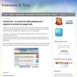 un service en ligne pratique pour capturer et annoter les pages web