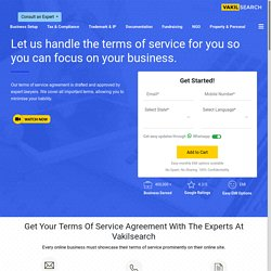 Terms of Service VS Privacy Policy - Vakilsearch