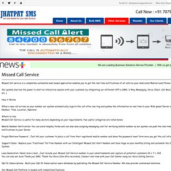 Missed Call Service Provider Patna - Jhatpat SMS