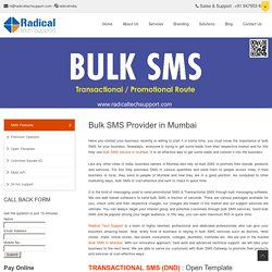 Bulk SMS Provider in Mumbai, India