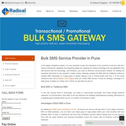 Bulk SMS Service Provider in Pune - Radical Tech Support