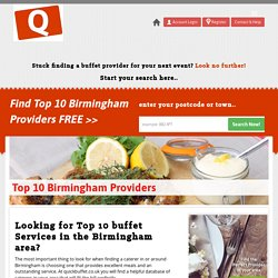 Top 10 Buffet Service Providers In Birmingham
