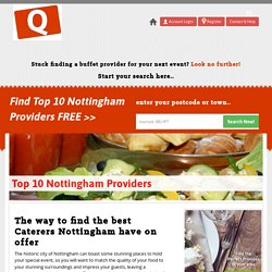 Top 10 Buffet Service Providers In Nottingham