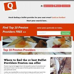 Top 10 Buffet Service Providers In Preston