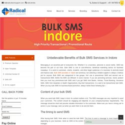 Unbelievable Benefits of Bulk SMS Services in Indore
