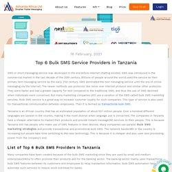 Top 6 Bulk SMS Service Providers in Tanzania
