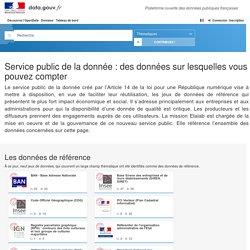 Service Public de la Donnée - Data.gouv.fr