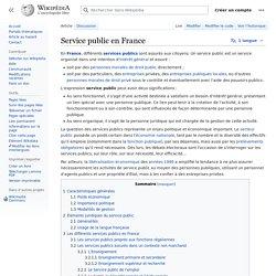 Service public en France