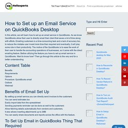 How to Set Up Email Service in QuickBooks Desktop - A Complete Guide