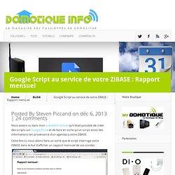 Google Script au service de votre ZiBASE : Rapport mensuel