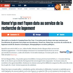Home'n'go met l'open data au service de la recherche de logement
