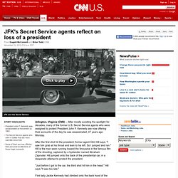 JFK's Secret Service agents reflect on loss of a president