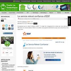 Le service relevé confiance d'EDF