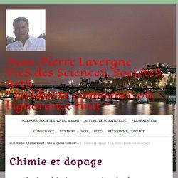 La chimie au service du dopage JP. Lavergne